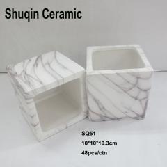square pot flower pot marble finish pot light weight pot succulents pot cube pot