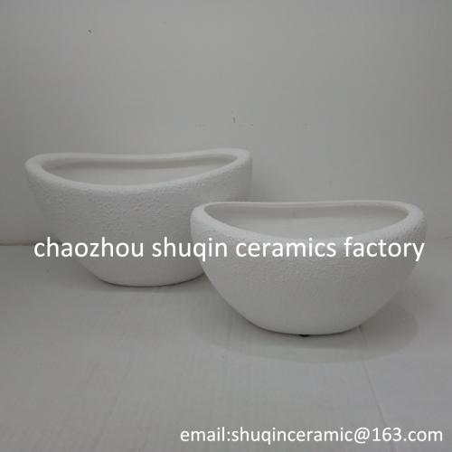 matt white colour flower pot ceramic indoor flower pots