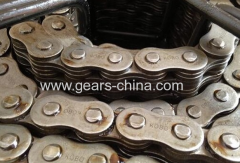 12A duplex roller chains with attachment
