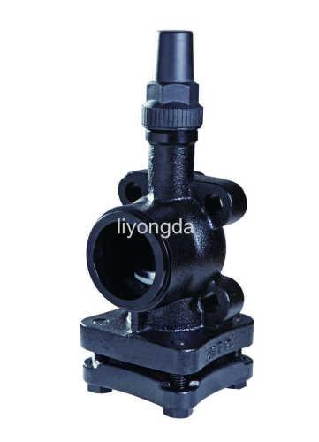 Cast iron refrigeration compressor service valve
