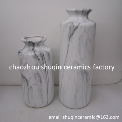 marble finish vase ceramic indoor vase home decoration