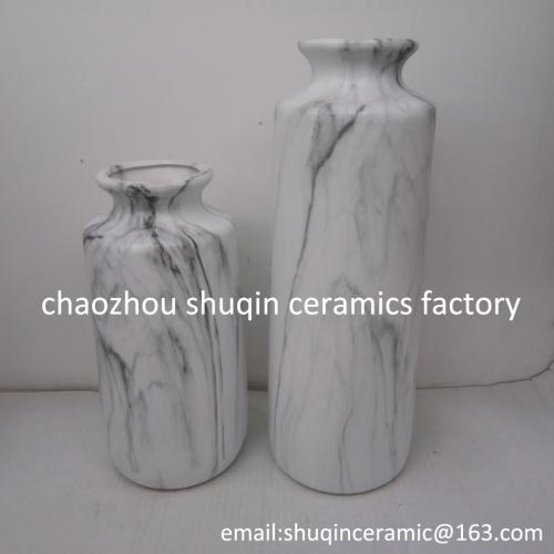marble finish vase ceramic indoor vase home decoration