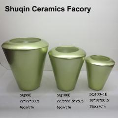 green indoor vase ceramic artificial flower vase for home decor