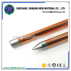Nonmagnetic Internal Threaded Copper Coated Steel Earth Rod