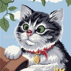 Animal Frameless DIY Canvas Art Painting by Numbers Paint by Numbers for Kids