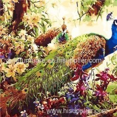 Animal Handpainted Oil Painting With Numbers on Canvas Art Kit