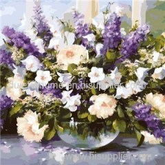 Flower DIY Digital Oil Painting by Numbers for Adults