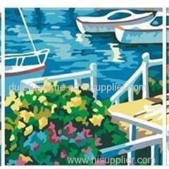 Scenery Triptych Set of Three Oil Painting by Numbers Kit for Home Decor Wall Art