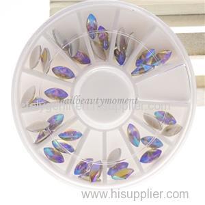 Nail Art Manicure Beauty Crystal AB Horse Eye Rhinestone Decoration Wheel (D84)