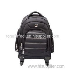 Double Shoulder Business Type 4 Wheels Trolley Computer Laptop Waterproof Backpack