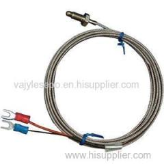Stainless Steel Shield 10cm Probe Tube RTD PT100 Temperature Sensor With 2m 3 Cable Wires For Temperature Controller