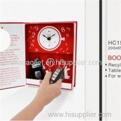 Decorative Funny Book Shape Clock