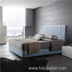 Super King Fabric Gas Lift Ottoman Storage Bed Frame With Headboard