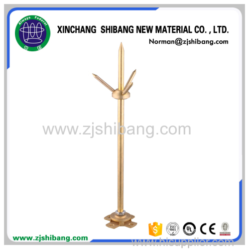 Non-magnetic Copper Clad Lightning Rod