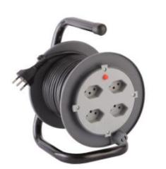 Cable reel Italy type Cable Reels 4-Outlet Cable Reel 16A/250V~ with cable H05VV-F 3G1.5mm2 25mtr/50mtr