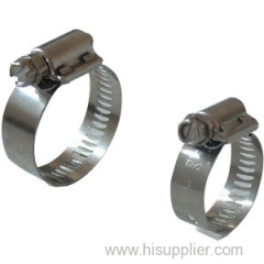 2-pcs housing perforated band hose clamp