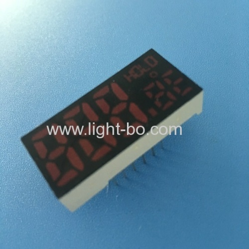 Customized ultra red triple digit 7 segment led display common anode for Temperature control