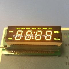 Custom super yellow / green 4 digit led clock display common anode for digital timer control