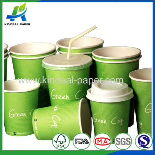 Shaped disposable paper cups
