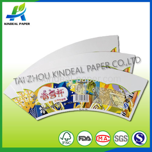 Pe coated paper cup fans for ice-cream cup