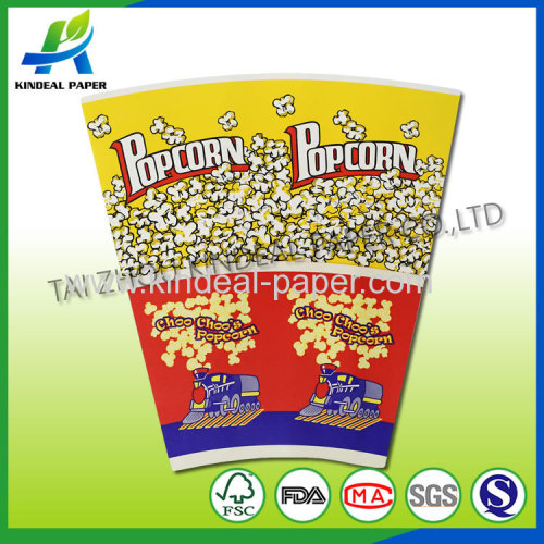 Custom print popcorn fans for Popcorn bucket