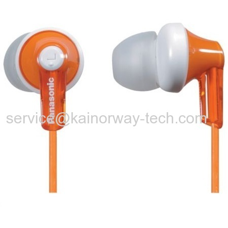 Panasonic Orange RPHJE120 Ergo Fit Ear Canal Noise Isolating In The Ear Stereo Ear-Buds Headphones