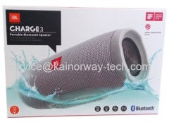Wholesale JBL Charge 3 Waterproof Shower Wireless Portable Bluetooth Rechargeable Speakers In Gray