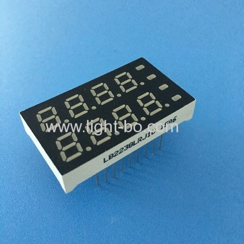 Custom Super red & Super Green 8 digit 7mm(0.28 ) 7 segment led display for Temperature Indicator