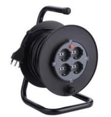 Plastic large garden cable reel 50m 3G1.5mm2 with CE socket and plug
