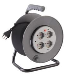 Italian CE GS approved 4way 16A 250V cable reel with switch