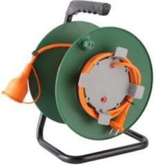 CE Italian cable reel 4 German Italian sockets with overheat protection