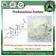 High Purity Glucocorticoid Hormone Powder Prednisolone Acetate