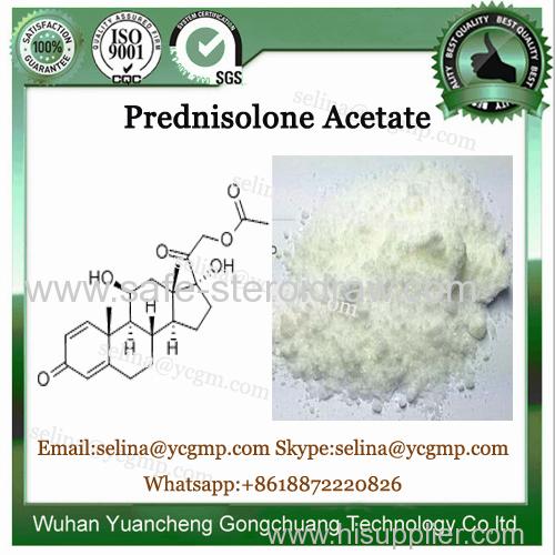 High Purity Glucocorticoid Hormone Powder Prednisolone Acetate