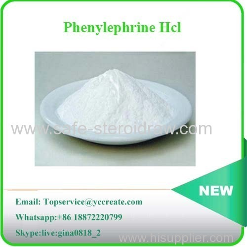 Factory Supply Hight Purity Phenylephrine HCl 61-76-7
