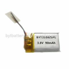 3.8v 4.35v lithium polymer battery