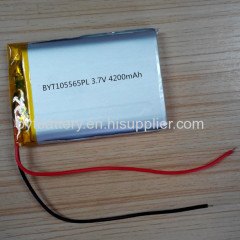 High Capacity 105565 3.7V 4200mAh Polymer Battery for Security Control