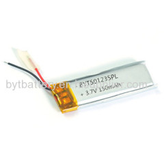 501235/150mAh/3.7V/Small Rechargeable Li-Po Battery for USB Lighter