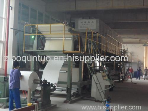 Carbon free carbon paper coating machine