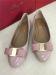 PU patent leather bowtie women dress shoes
