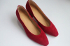 Plain toe suede fashion lady dress shoes