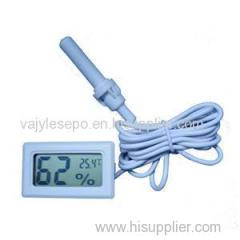 Mini LCD Digital Electronic Temperature Humidity Thermometer Outdoor Hygrometer Meter Probe