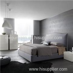Linen Fabric Classic Queen Upholstered Bed With Headboard