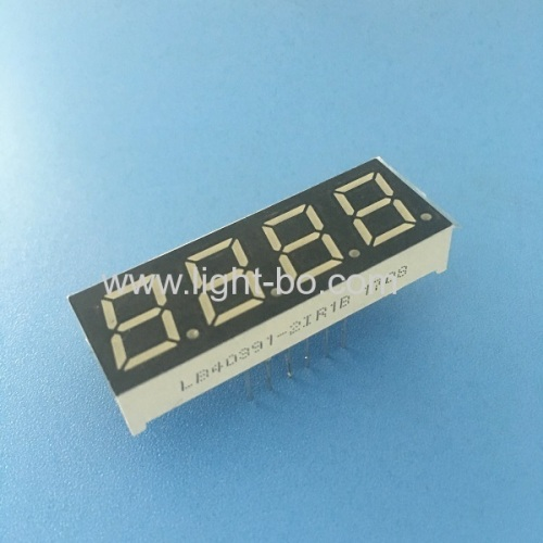 Super bright red 0.39  4 digit 7segment led display common anode for process control