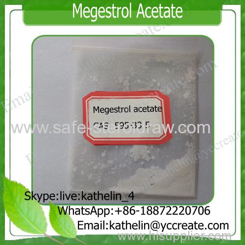 Megace raw Steroidal Progestin Antiandrogen Hormone Powder Megestrol Acetate (MGA) CAS 595-33-5