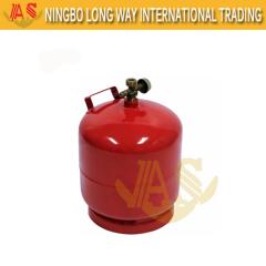 3kg Cilindro Nigéria Uso doméstico GPL Cilindro de gás Preço Bom