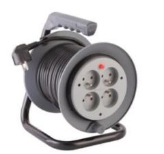 13A French type multi-socket cable reel