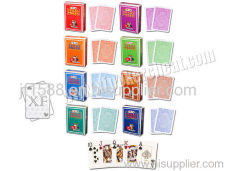 Italie Texas Modiano Plastic Jumbo Playing Side Marked Cards For Poker Predictor