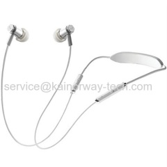 V-MODA Forza Metallo Wireless Lightweight Neckband Earbuds Mic Remote In-Ear Earphones In White Silver
