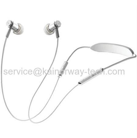 V-MODA Forza Metallo Wireless Lightweight Neckband Earbuds Mic Remote In-Ear Earphones In White Silver