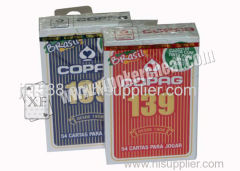 Brazilië Blue Copag 139 Gokpapier Pokerkaarten Props Bridge Size Regular Face
